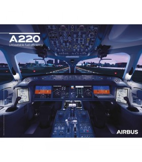 AIRBUS A220 Poster Cockpit View