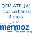 3 mois - Tous les certificats ATPL(A)