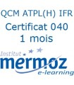 1 mois - Certificat 040